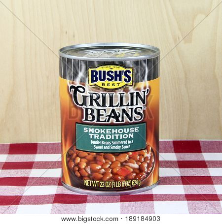 Spencer WisconsinJune 1 2017 Can of Bush's Grillin Beans Bush's is an American based company founded in 1908