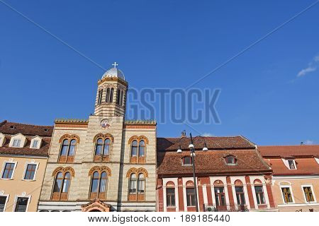 close up of a Byzantine medieval church Brasov Romania