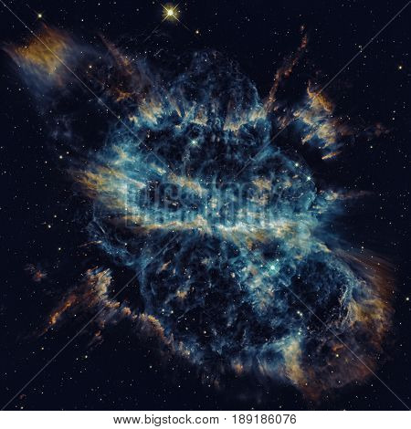 Spiral Planetary Nebula or NGC 5189. Located in the constellation Musca. 1, 780 light years away from Earth. Elements of this image furnished by NASA.