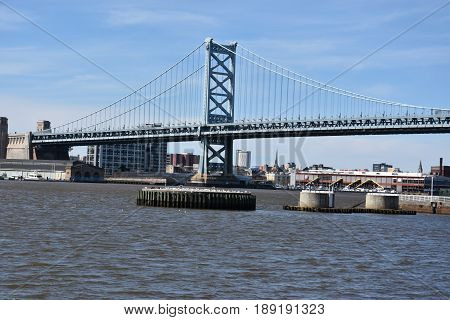 Benjamin Franklin Bridge in Philadelphia, Pennsylvania, USA