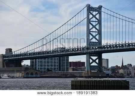 Benjamin Franklin Bridge in Philadelphia, Pennsylvania, USA