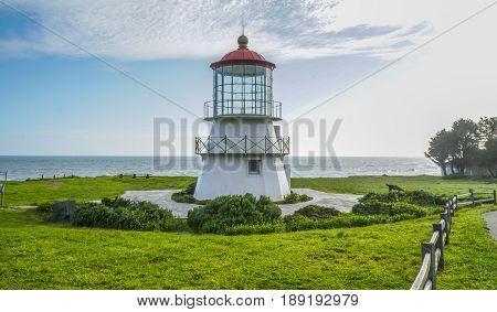 The beautiful lighthouse of Shelter Cove - SHELTER COVE - CALIFORNIA