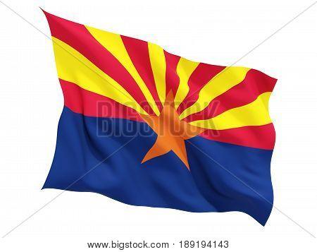 Flag Of Arizona, Us State Fluttering Flag