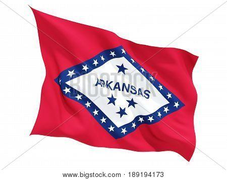 Flag Of Arkansas, Us State Fluttering Flag