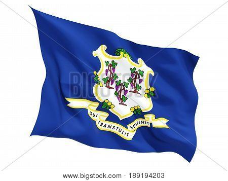 Flag Of Connecticut, Us State Fluttering Flag