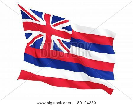 Flag Of Hawaii, Us State Fluttering Flag