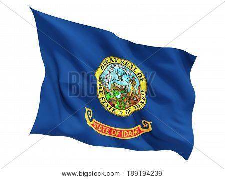 Flag Of Idaho, Us State Fluttering Flag
