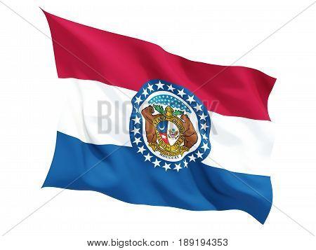 Flag Of Missouri, Us State Fluttering Flag
