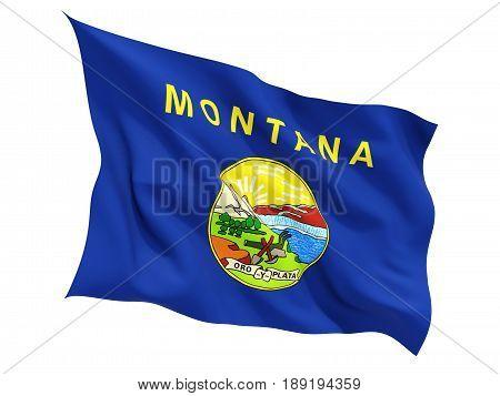 Flag Of Montana, Us State Fluttering Flag