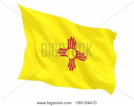 Flag Of New Mexico, Us State Fluttering Flag