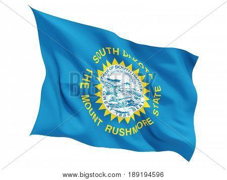 Flag Of South Dakota, Us State Fluttering Flag