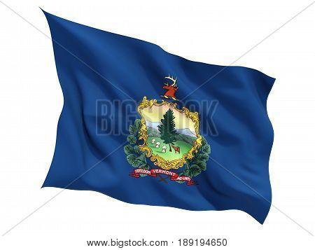 Flag Of Vermont, Us State Fluttering Flag