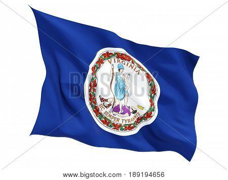 Flag Of Virginia, Us State Fluttering Flag