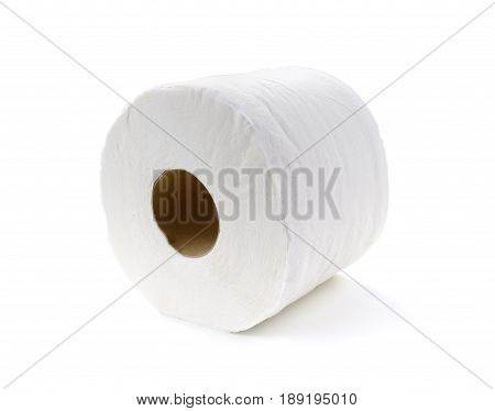 tissue-simple toilet paper isolate on white background