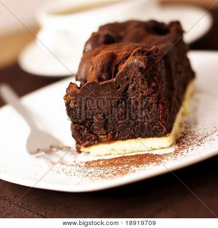 Chocolate cake with cocoa