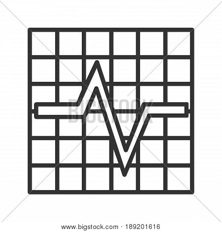 Cardiogram linear icon. Thin line illustration. Vector isolated outline drawing
