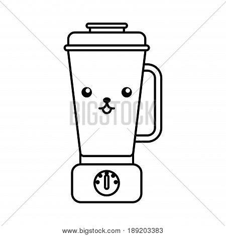 cute kawaii line icon blender cartoon vector gtaphic design