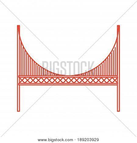 red golden gate bridge cartoon vector graphi design