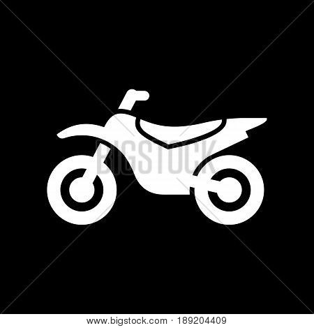 Motorcycle, Motorbike Icon Simple Flat Vector Illustration