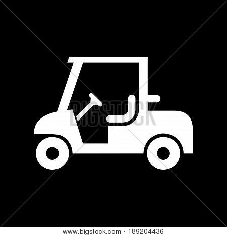 Golf Car Icon Simple Flat Vector Illustration