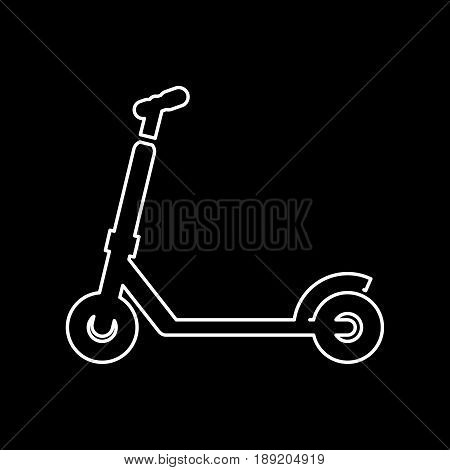 Kick Scooter Icon Simple Flat Vector Illustration