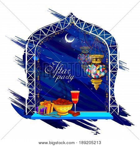 easy to edit vector illustration of Iftar Party background for Happy Eid