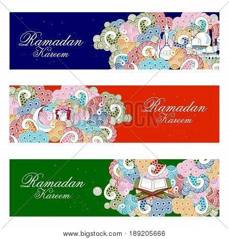 easy to edit vector illustration of Ramadan Kareem background
