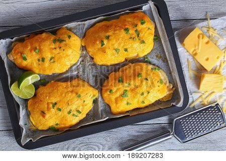 Chicken Breast Coated With Melted Cheese
