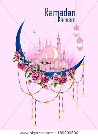 easy to edit vector illustration of Eid Mubarak Happy Eid background