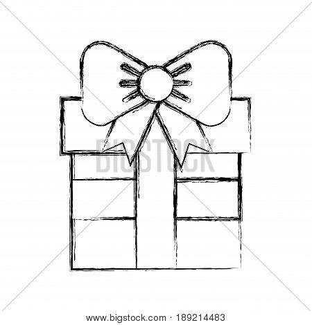 sketch draw fuchsia gift cartoon vector graphic design