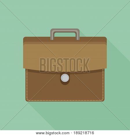 Briefcase flat icon. Briefcase flat icon vector.