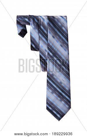 One silk men's necktie on a white background