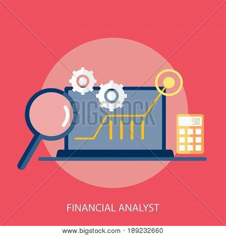Financial Analyst Conceptual Design | Set of great flat design illustration concepts for business, finance, marketing and much more.