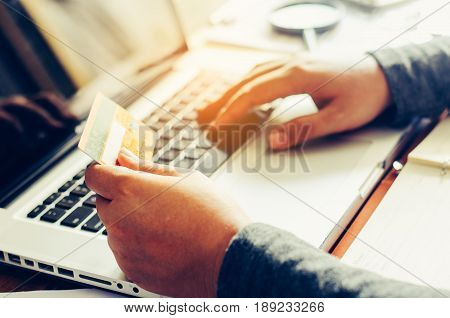 Handle credit cards with the laptops were purchased on-line