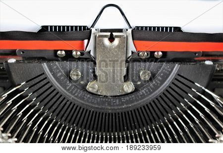 An image of a typewriter - vintage author