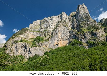cliff wall in Prokletije Mountains, Montenegro