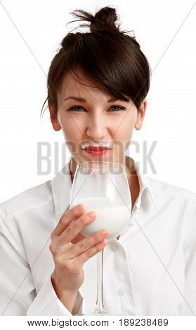 Cat Girl With Milk Mustache