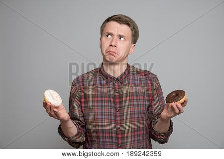 Young Man With Donut