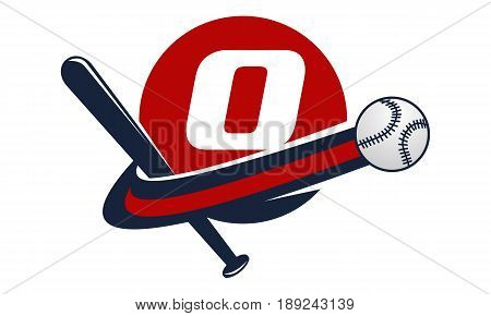 This image describe about Base Ball Letter O