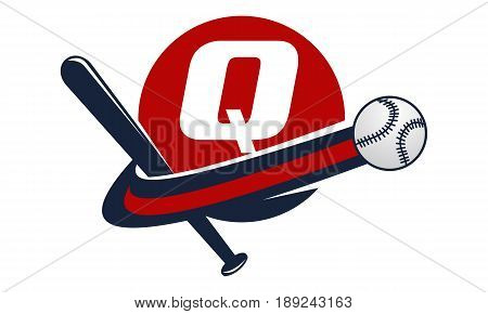 This image describe about Base Ball Letter Q
