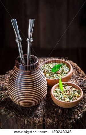 Delicious Yerba Mate With Bombilla And Calabash