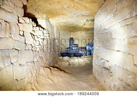 Tunnel In Stone Quarry Mine
