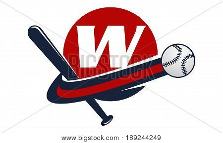 This image describe about Base Ball Letter W