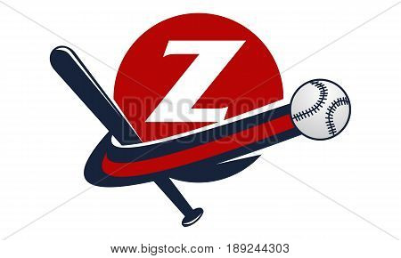This image describe about Base Ball Letter Z