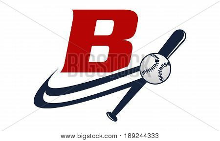 This image describe about Base Ball Letter B