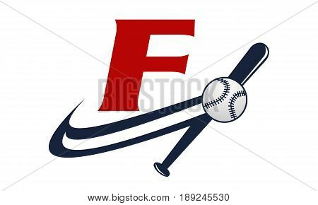 This image describe about Base Ball Letter F