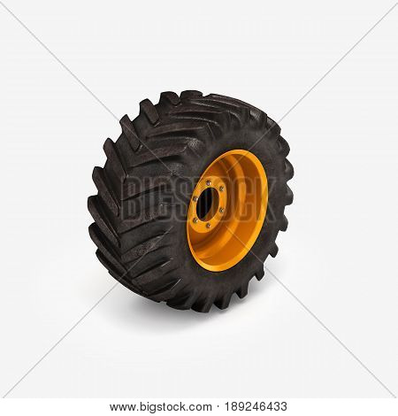 Off-road Wheel Isolated On White Background 3D Illustration