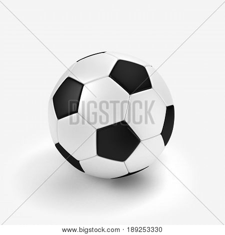 football ball isolated on white 3D illustration