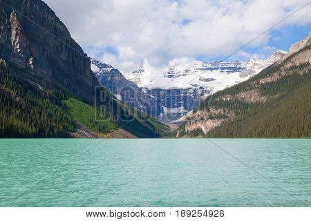 Lake Louise In Banff National Park In The Canadian Rockies