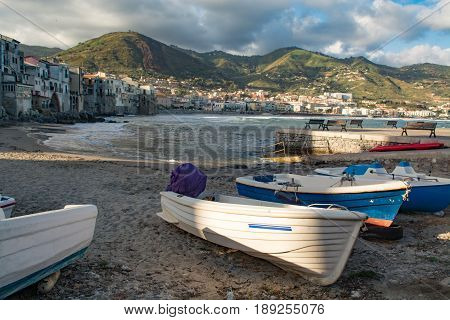 Touristic and vacation pearl of Sicily small town of Cefaly Sicily south Italy